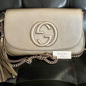 Gucci Soho Camelia Chain Purse